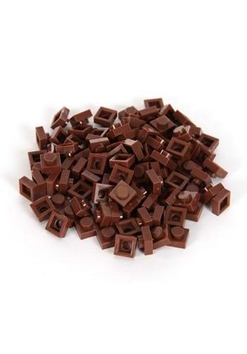 Bricky Blocks 100 Pieces 1x1 Brown