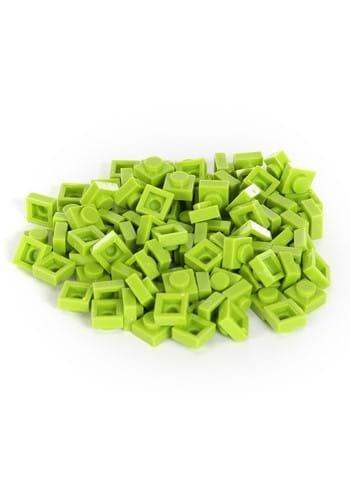 Bricky Blocks 100 Piece 1x1 Lime