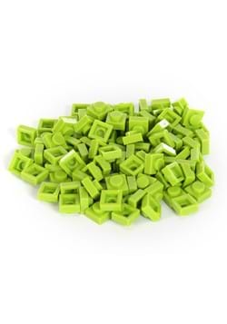 Bricky Blocks 100 Piece 1x1 Lime