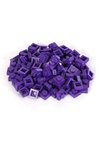Bricky Blocks 100 Pieces 1x1 Purple