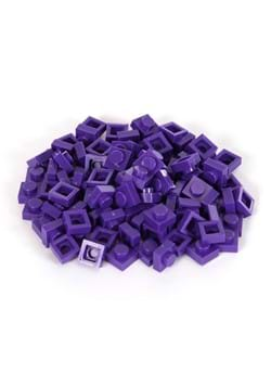 Bricky Blocks 100 Pieces 1x1 Purple