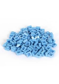 Bricky Blocks 100 Pieces 1x1 Light Blue