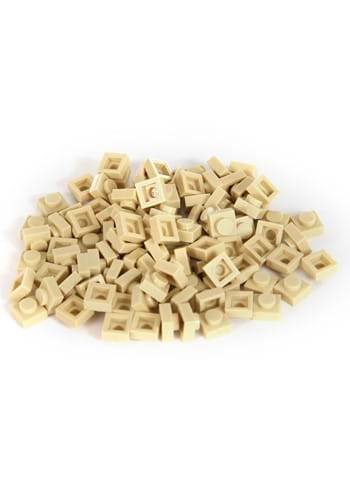Bricky Blocks 100 Pieces 1x1 Tan