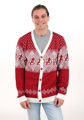 Adult Marvel Avengers Ugly Christmas Cardigan Sweater