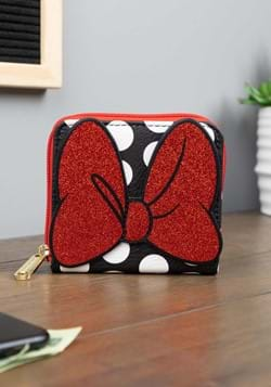 Minnie Mouse Zip Around Square Wallet Upd