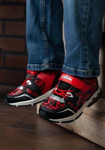 Spider-Man Lighted Athletic Kids Black & Red Shoe-1
