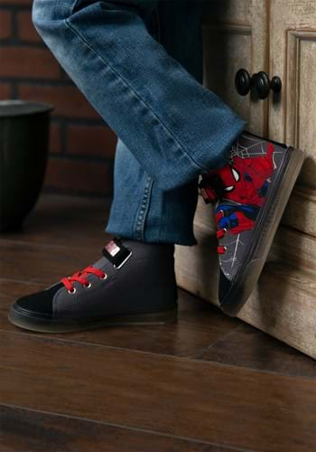 Kids Spiderman Lighted Canvas Shoes
