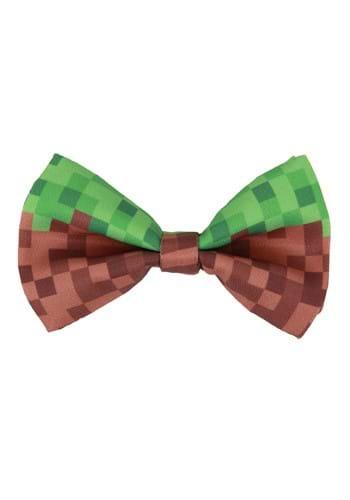 Pixel Brick Bow Tie Green/Brown Main