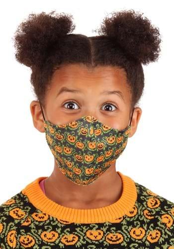 Pumpkins Sublimated Face Mask for Kids