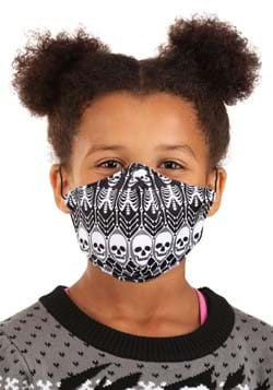 Skeleton Pattern Sublimated Face Mask for Kids