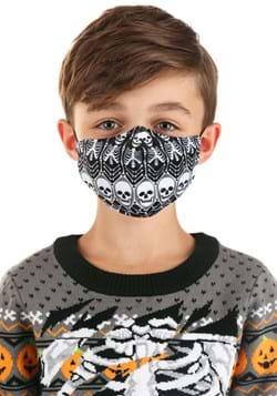 Skeleton Pattern Sublimated Face Mask for Kids alt3
