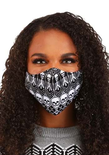 Skeletons Pattern Sublimated Face Mask for Adults