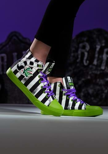Beetlejuice Striped Unisex Sneakers Main 1