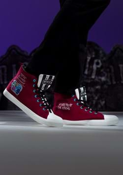 Beetlejuice Recently Deceased Maroon Unisex Sneakers Main UP