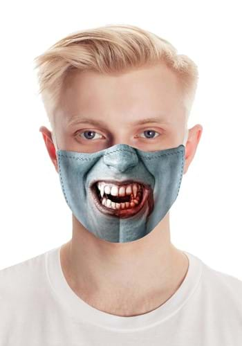 Fang Face Vampire Face Mask for Adults