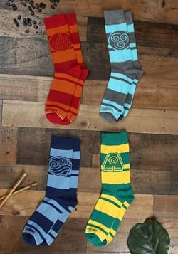 Avatar The Last Airbender 4 Pair Pack Crew Socks