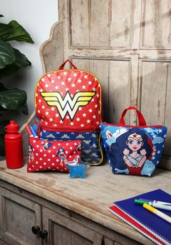 Wonder Woman 5 Pc Backpack Set