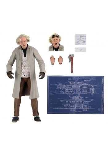 """Back to the Future Doc Brown 7"""" Scale Action Figure"""