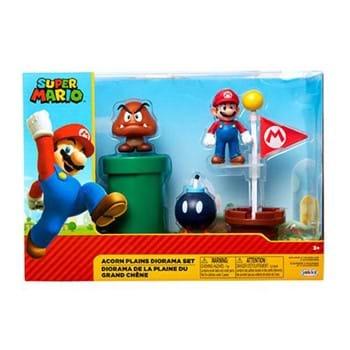 World of Nintendo 2 1/2 Inch Acorn Plains Diorama Playset