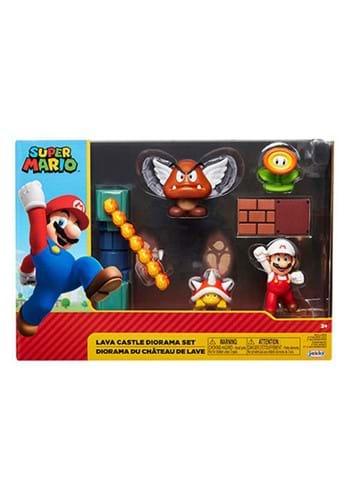 World of Nintendo 2 1 2 Inch Lava Castle Diorama Set