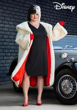 Plus Size Womens Deluxe Cruella De Vil Costume-2