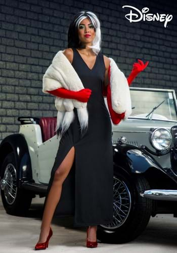 Womens Prestige Cruella De Vil Stole Costume-2-1