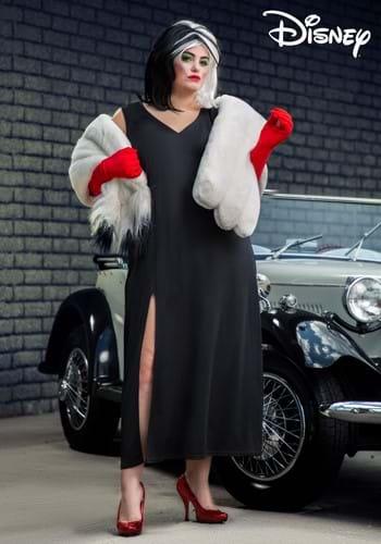 Plus Size Prestige Cruella De Vil Stole Costume-2-1