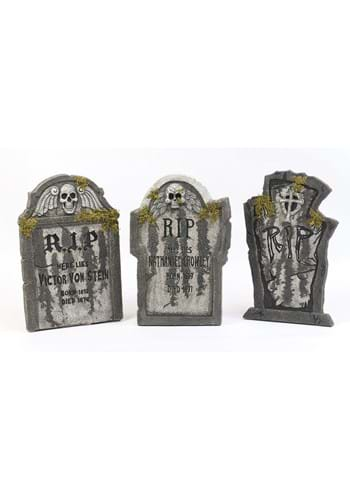 RIP Tombstone with Moss Halloween Decoration Main