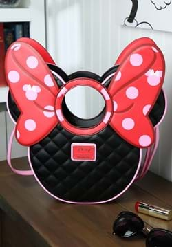 Loungefly Disney Minnie Mouse Quilted Bow/Head Cro