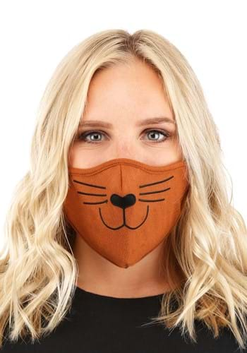 Brown Cat Adult Face Mask