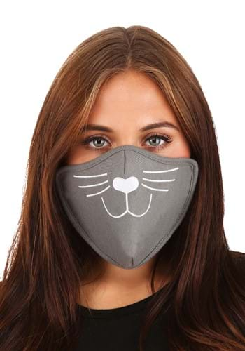 Adult Gray Cat Face Mask