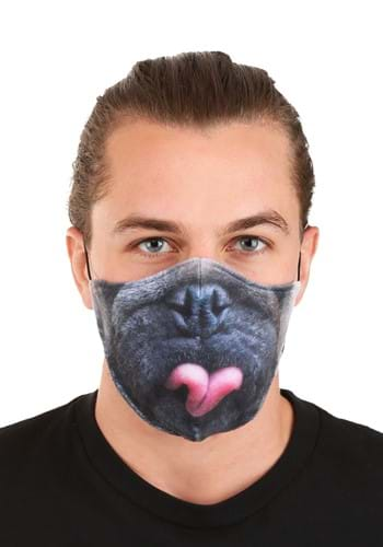 Adult Pug Sublimated Face Mask