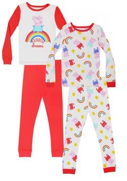Toddler Girls Peppa Pig 4pc Pajama Set Upd