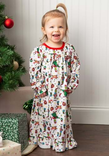 Toddler Girls The Grinch Nightgown Update-1