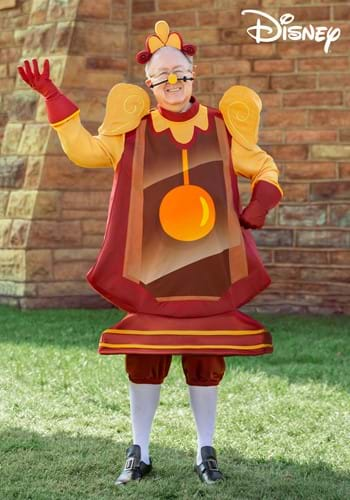 Beauty and the Beast Cogsworth Mens Plus Size Costume-2