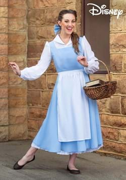 Womens Beauty and the Beast Belle Blue Dress Costume-2
