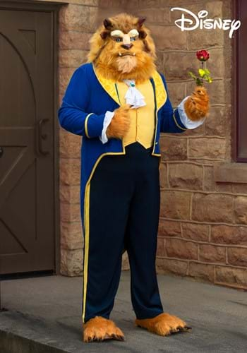 Plus Size Mens Beauty and the Beast Authentic Beast Costume-