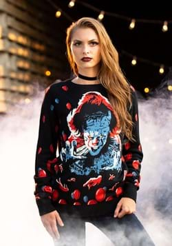 Adult IT (2019) Pennywise Ugly Sweater Alt 1