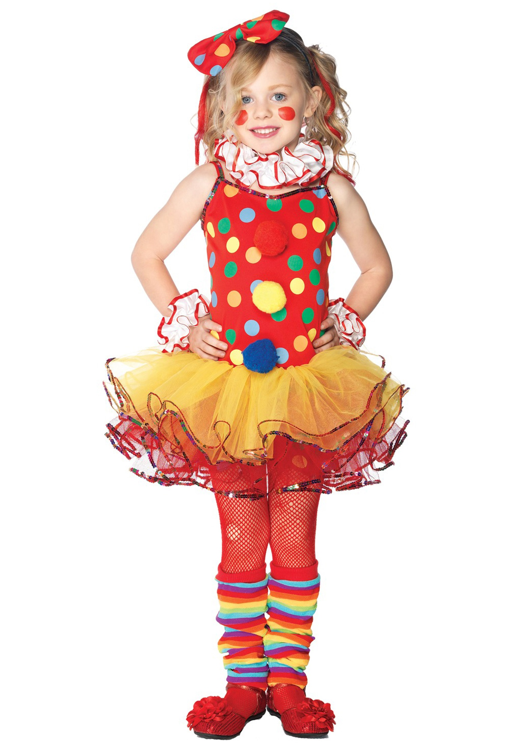 Girlu0027s Circus Clown Cutie Costume  sc 1 st  Fun.com & Circus Clown Cutie Girls Costume