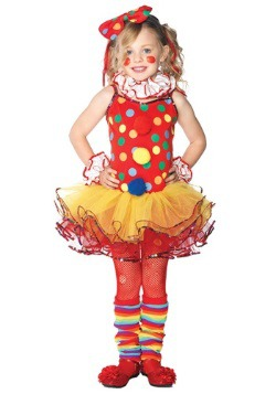 Girl's Circus Clown Cutie Costume