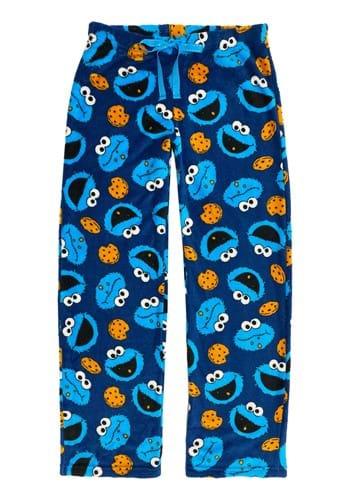 Womens Cookie Monster Plush Pajama Pants