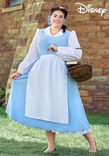 Plus Size Beauty and the Beast Belle Blue Dress Costume