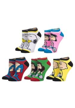 Peanuts 5 Pair Ankle Socks