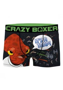 Crazy Boxer Star Wars Admiral Ackbar Mens Boxer Briefs