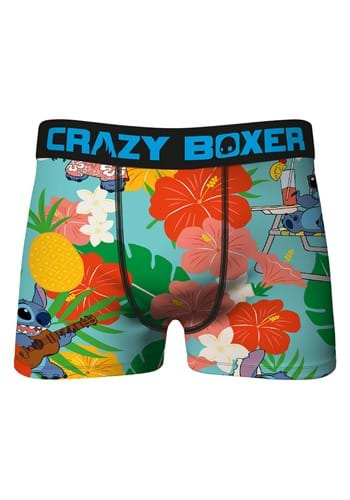 Crazy Boxers Floral Stitch Print Mens Boxer Brief