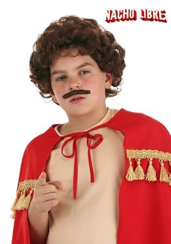 Child Nacho Libre Wig and Mustache Accessories