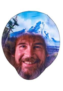 Bob Ross 50 X 60 Head Shaped Blanket