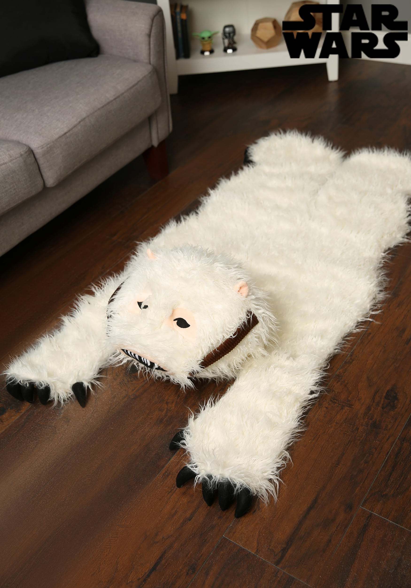 Wampa rug in perfect lighting.