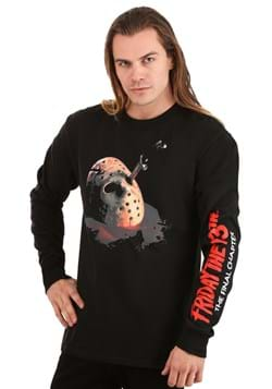 Friday the 13th The Final Chapter Adult Long Sleeve Shirt Up