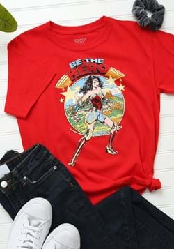 Kids Wonder Woman Be The Hero Red T-Shirt Upd